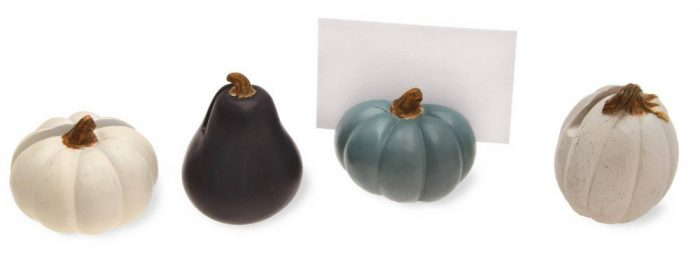 Multicolor Pumpkin Buffet Markers Halloween Party Decor