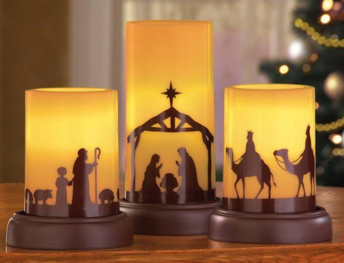 Nativity Christmas Candles