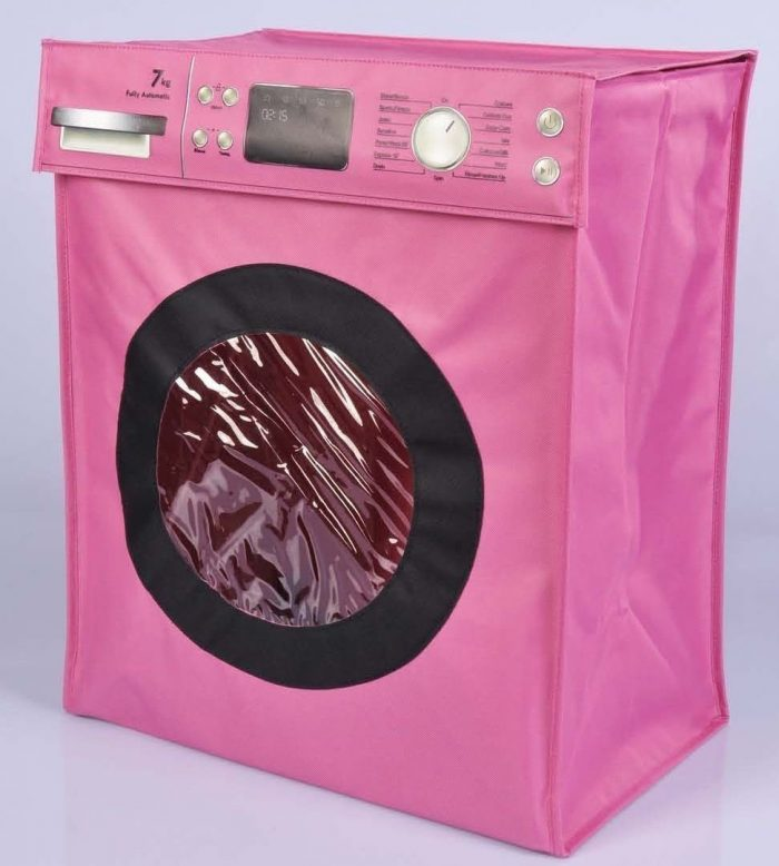 Pink Washing Machine Laundry Hamper