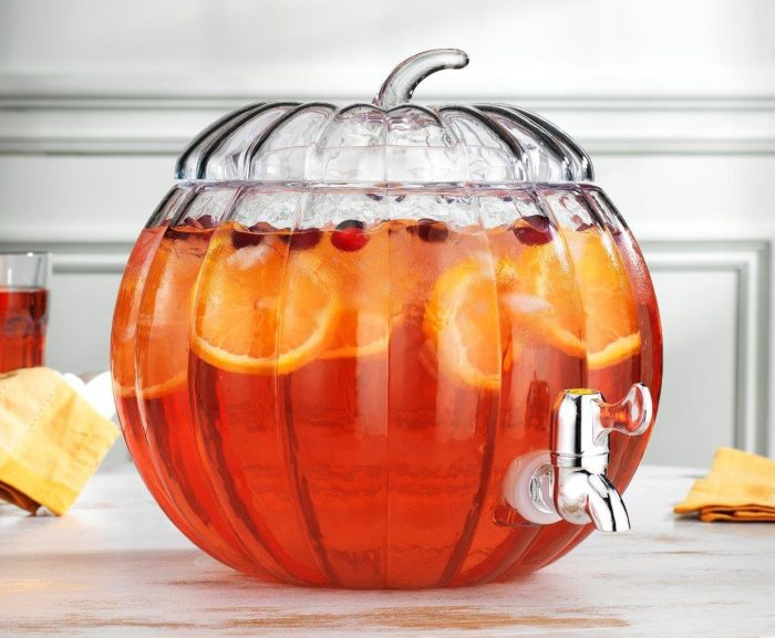 Pumpkin Drink Dispenser Halloween Party Decor