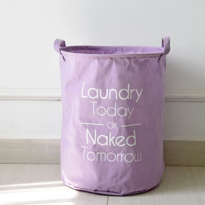 Purple Biodegradable Laundry Hamper