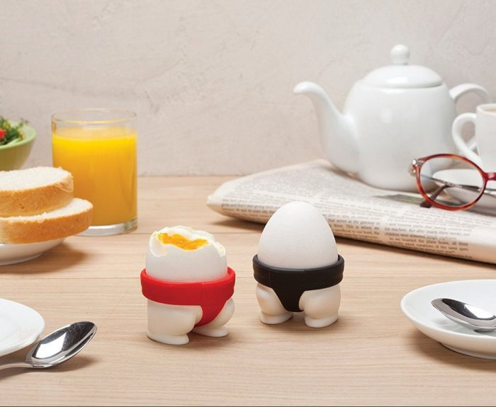 Red and Black Sumo Boiled Egg Holders