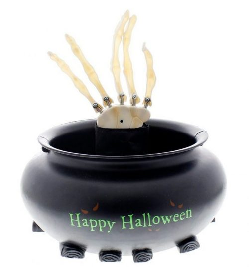 Skeleton Hand Animated Candy Bowl Halloween Party Decor