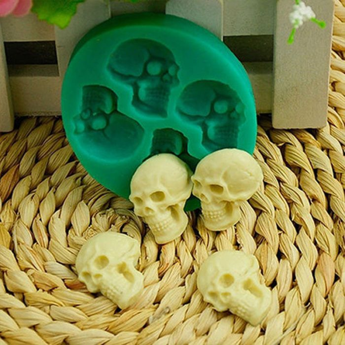 Skull Head Chocolate Mold Halloween Party Decor
