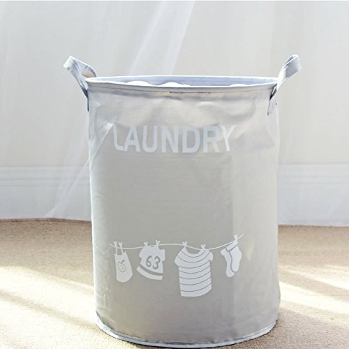 Trendy Grey Foldable Laundry Hamper