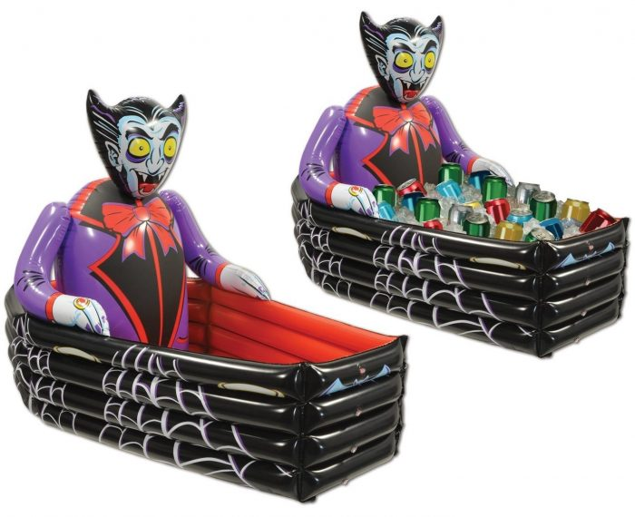 Vampire & Coffin Cooler Halloween Party Decor