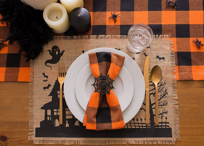 Vintage Printed Placemat Halloween Party Decor