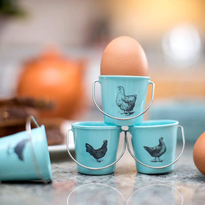 Vintage Style Bucket Boiled Egg Holders