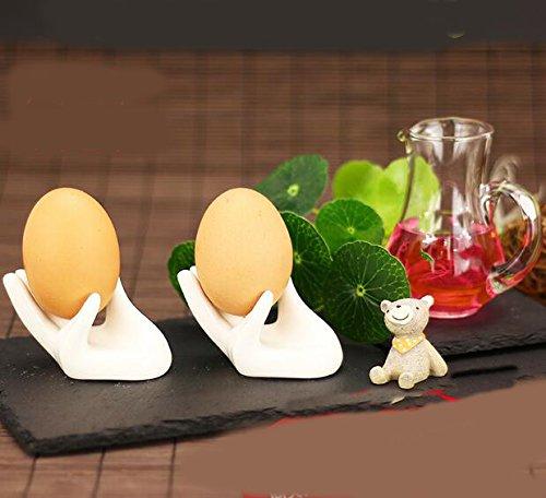 White Hand Ceramic Boiled Egg Holders
