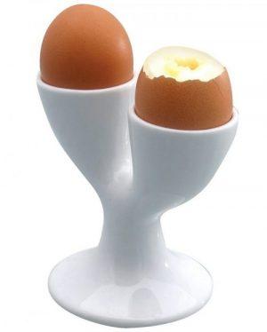 White Porcelain Double Boiled Egg Holder