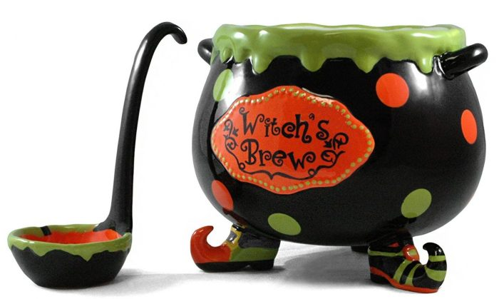 Witch's Brew Punch Bowl Halloween Party Decor