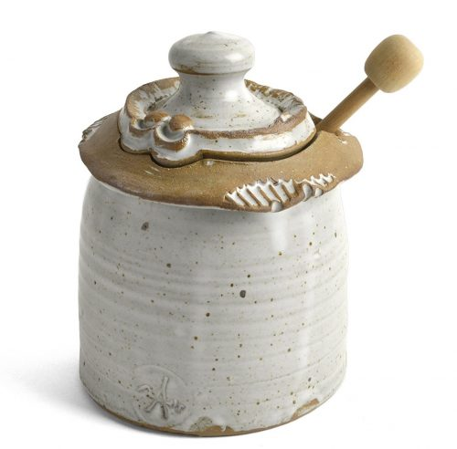 Beautiful White Honey Pot