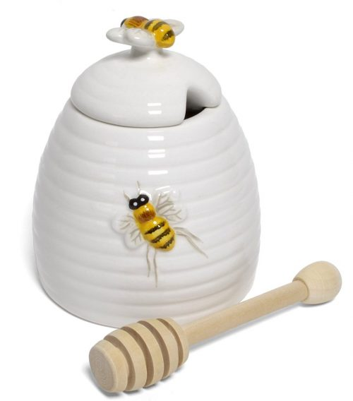 Beehive Shaped Honey Pot