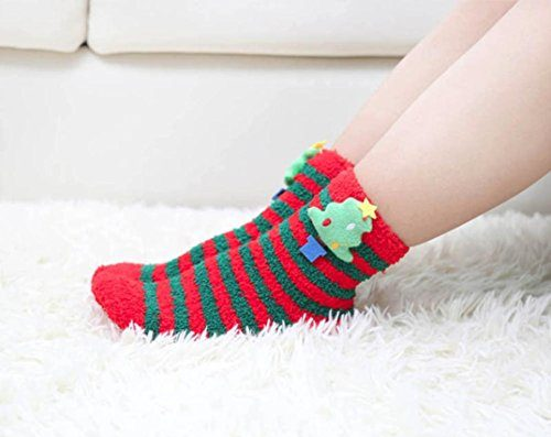 Christmas Trees Pattern Christmas Socks
