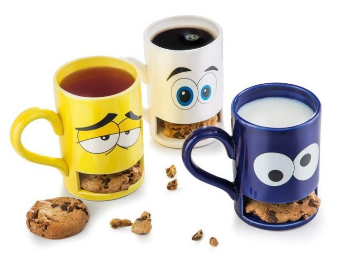 Colorful Cookie Holder Mugs