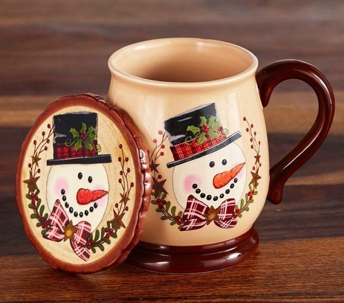 Colorful Snowman Christmas Mug