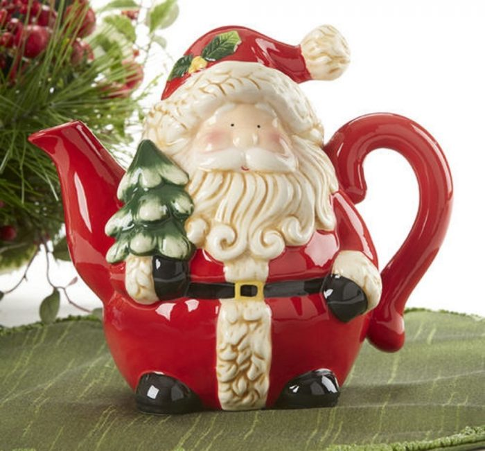 Decorative Santa Tea Pot