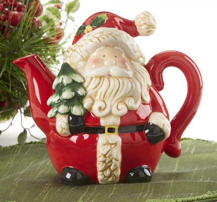 Decorative Santa Tea Pot