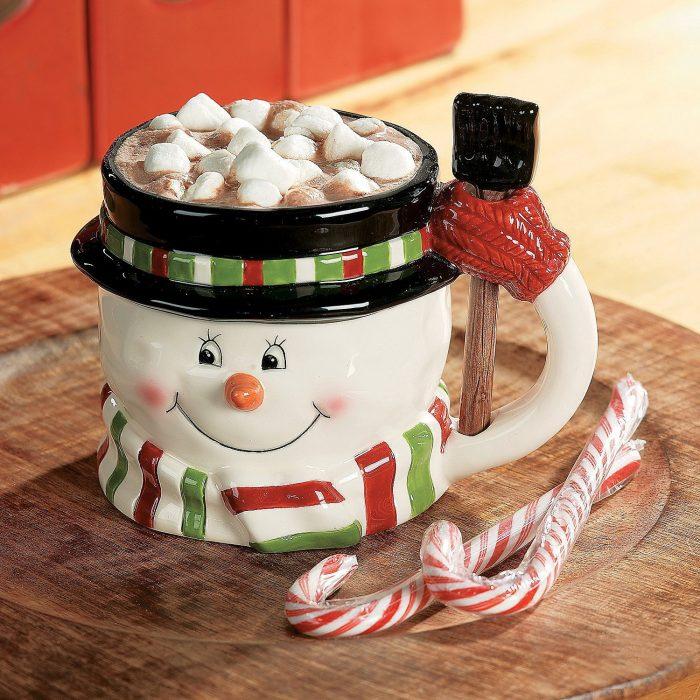 Decorative Snowman Christmas Mug