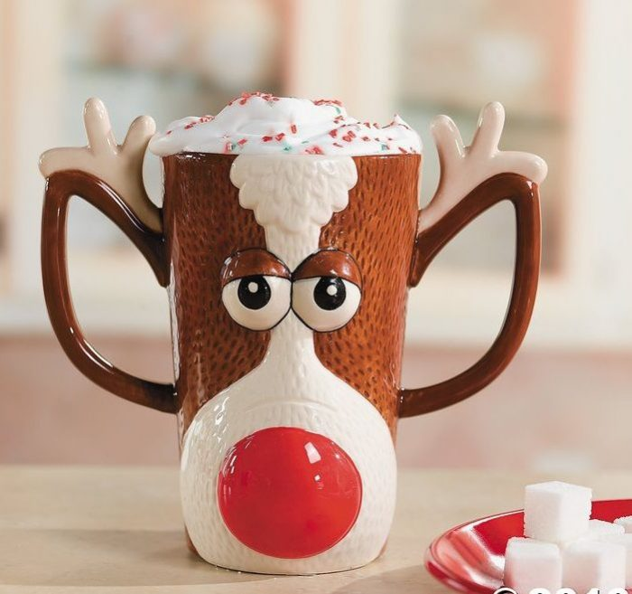 Festive Reindeer Christmas Coffee Mug