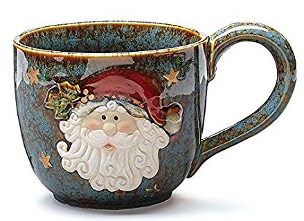 Flawless Ceramic Santa Face Christmas Mug