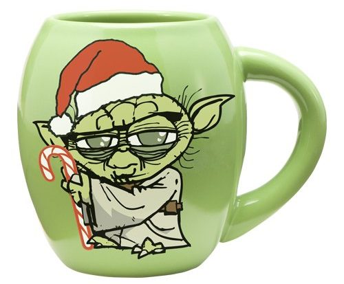 Green Star Wars Yoda Christmas Mug