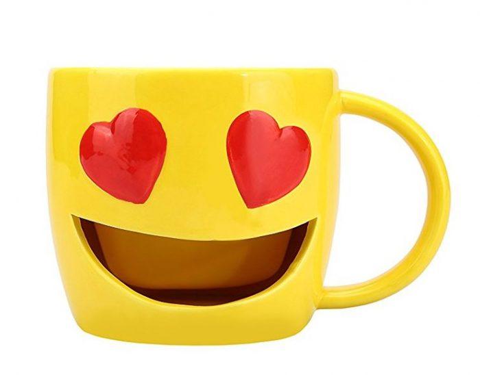 Heart Eyes Cookie Holder Mug