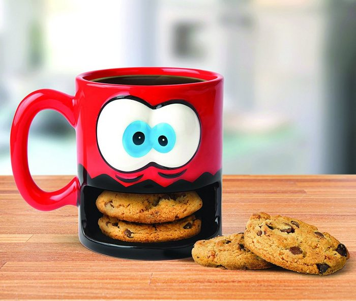 Monster Pattern Christmas Cookie Mug