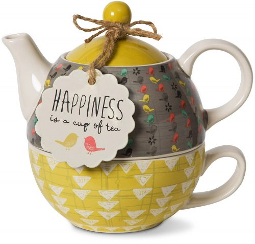 Multicolor Bloom Happiness Teapot