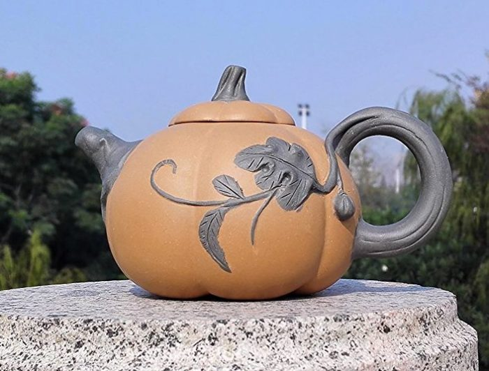 Nature Clay Pumpkin Teapot