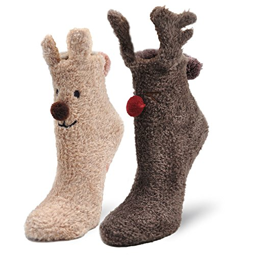 Non-Skid Design Christmas Socks