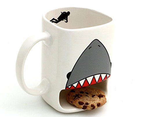 Shark Mouth Pattern Cookie Holder Mug