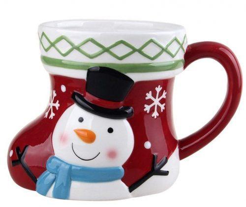 Shoe-shaped Snowman Christmas Mug