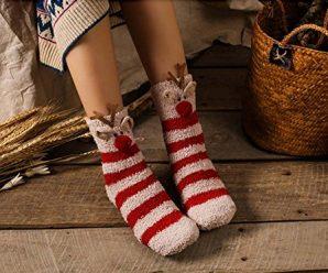 Warm and Colorful Christmas Socks