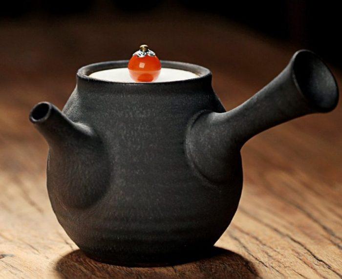 Stylish Black Glaze Teapot