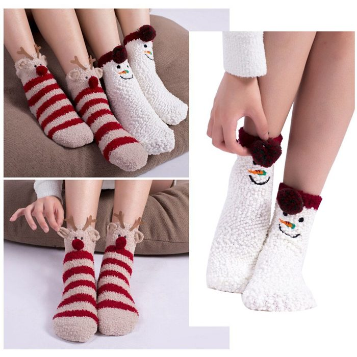 Super Cute 3 Patterns Christmas Socks