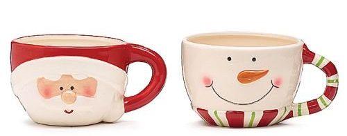 Traditional Ceramic Christmas Mugs