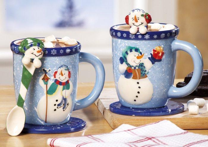 Unique Snowman Design Christmas Mugs