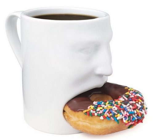White Creative Face Cookie Mug