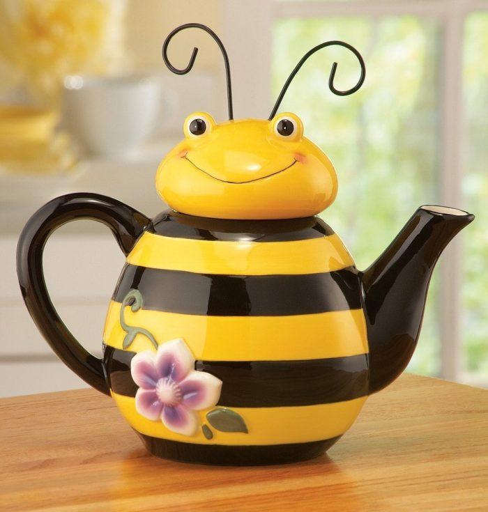 Yellow Bee Shaped Teapot