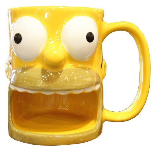 Yellow Homer Simpson Cookie Holder Mug