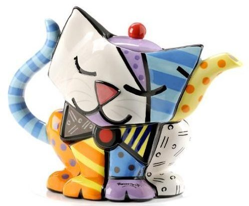 Cat Design Teapot Tableware