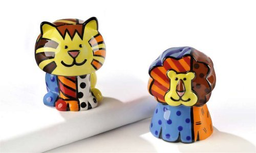 Lion and Tiger Pattern Shakers Tableware