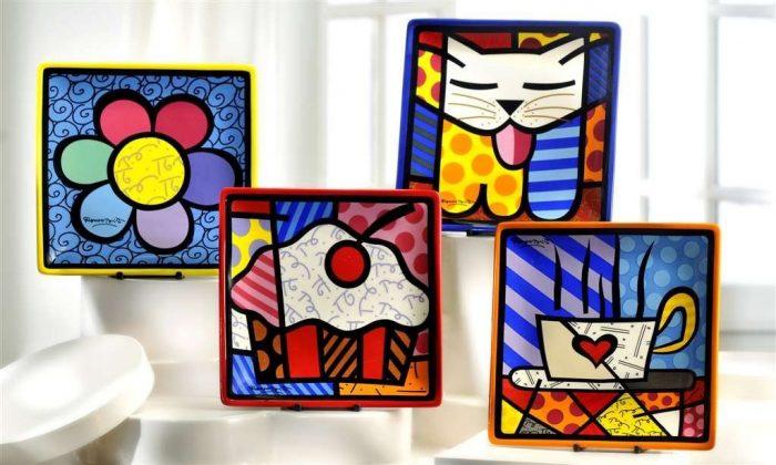 Vibrant Square Plates Tableware