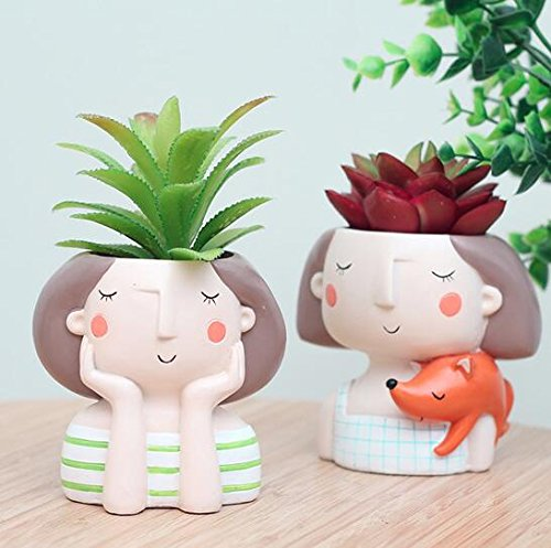 Creative Cute Girl Flower Planters