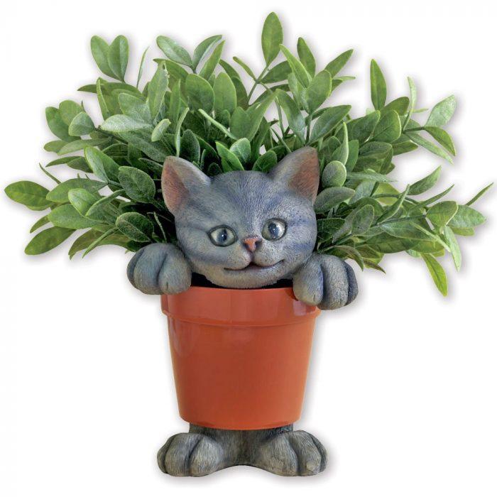 Cute Ceramic Kitten Planter
