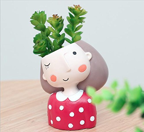 Red Dress Girl Mini Planter
