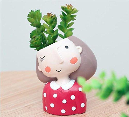 Red Dress Girl Mini Planter