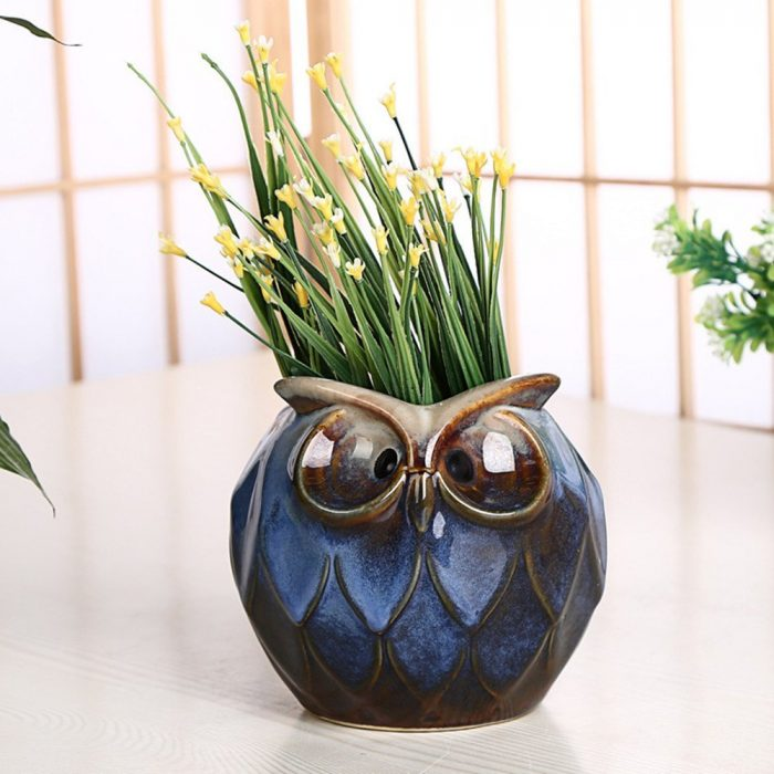 Small Owl Design Planter