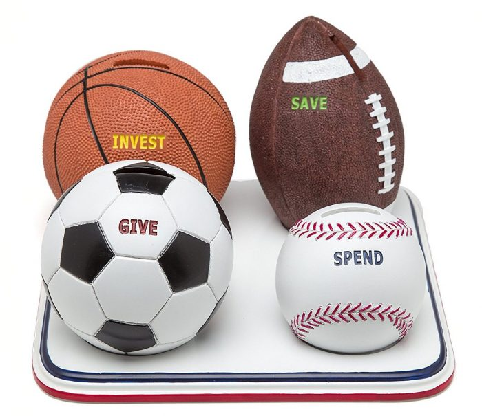 Classic Sports Balls Piggy Bank